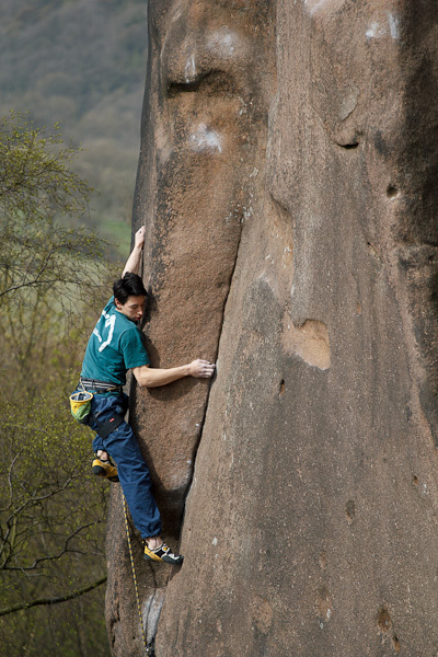 Gaia (E8 6c), Black Rocks, Paul Bennett