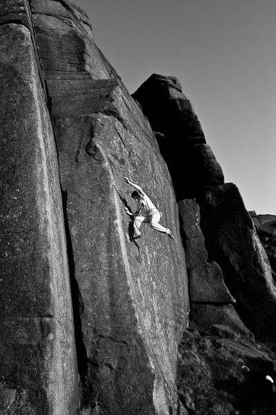 Forse Ulysse's Bow (E6 6b), una delle prime vie che ho tentato, che mi ha dato il massimo., archivio Michele Caminati