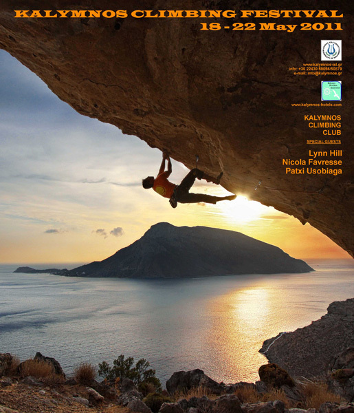 From 18-22 May 2011 the island of Kalymnos will host its annual climbing festival featuring Patxi Usobiaga and Nicolas Favresse, Kalymnos