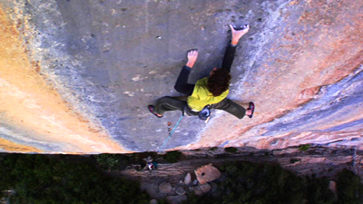 Dave Graham making the fourth ascent of Realization 9a+, Ceuse, Bigupproductions