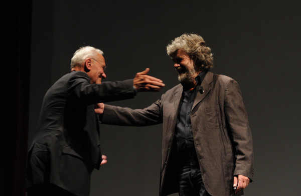 Reinhold Messner and Pierre Mazeaud, Dino Panato / TrentoFilmfestival 2011