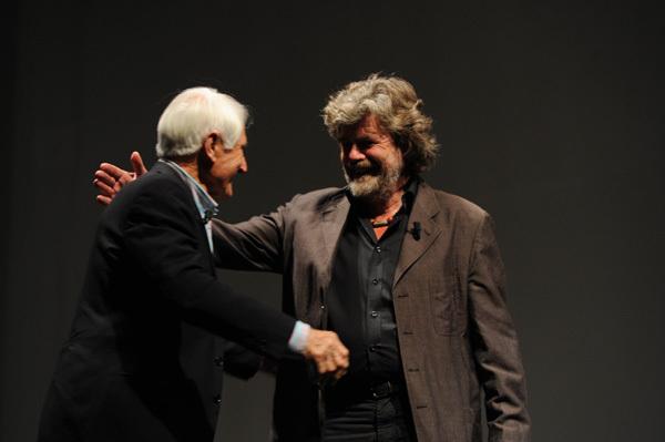 Reinhold Messner and Walter Bonatti, Dino Panato / TrentoFilmfestival 2011