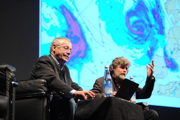 Reinhold Messner e il meteorologo svizzero Karl Gabl, Dino Panato / TrentoFilmfestival 2011