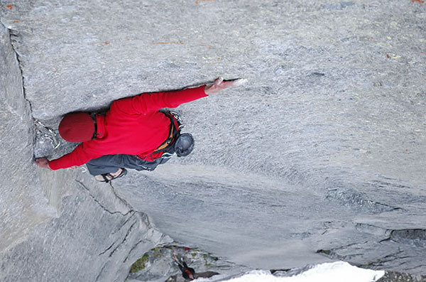 Hansjörg Auer on the balancy crux, Marten Blixt