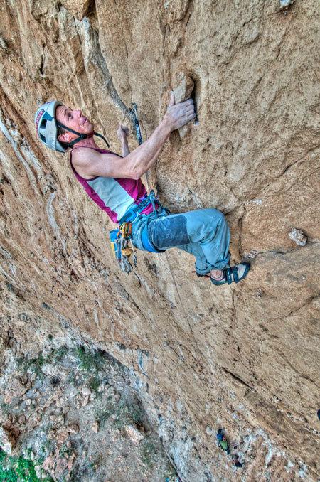 """Luca Giupponi su Pompa funebre - Monte Pellegrino - Parete dei Rotoli, Sicilia, Giampaolo Calzà """"Trota"""""""