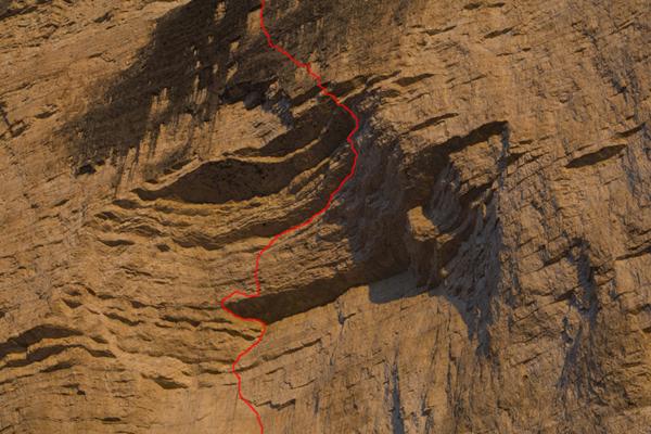 La linea di Pan Aroma 8c, Cima Ovest, Lavaredo, Dolomiti, Michael Meisl