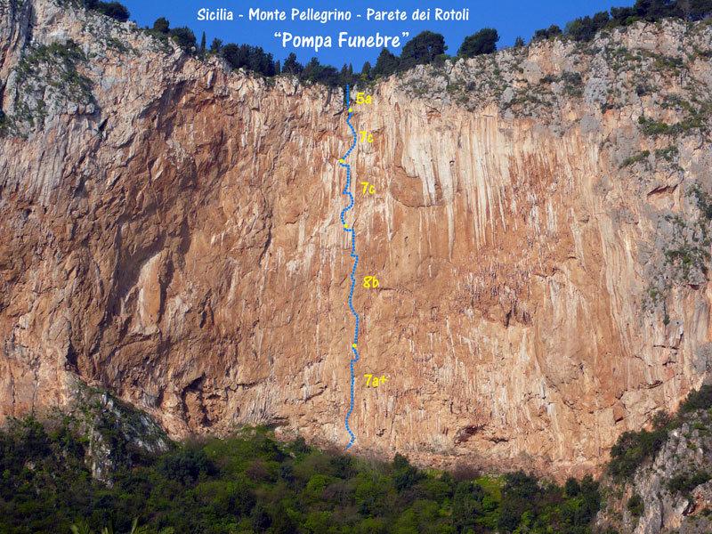 """Pompa funebre - Monte Pellegrino - Parete dei Rotoli, Sicilia, Giampaolo Calzà """"Trota"""""""