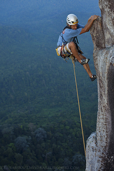 David Kaszlikowski on pitch 7 (6c) of Polish Princess (7b+ max, 270m), Dragon's Horns, Malaysia, David Kaszlikowski