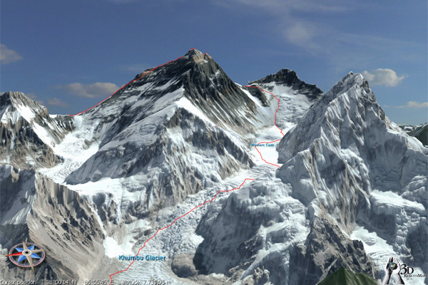 Everest visto da sud, 3drealitymaps