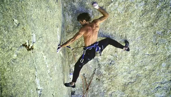 Peter Croft during the first ascent of The Venturi Effect, The Incredible Hulk, USA, bigupproductions
