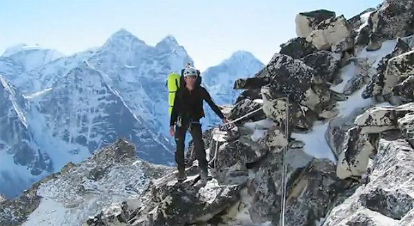 Stuart Holmes during his ascent of Ama Dablam, archive Stuart Holmes