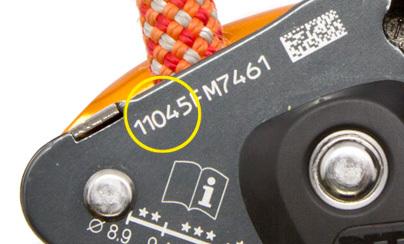 GRIGRI 2 recall serial number., Petzl