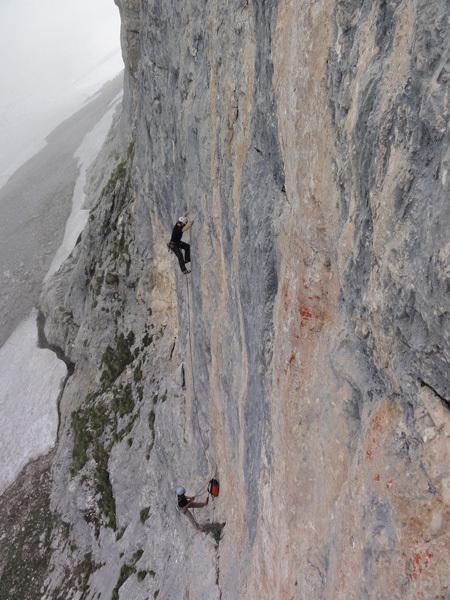 """DoloMitiche - sulla via """"Attriti Verticali ...zero!"""" al Pilastro dell'Orso – Brenta Settentrionale, archivio Alessandro Beber"""