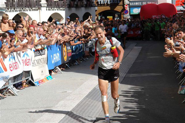 Marco Olmo winning in Chamonix, Alice Buffoni