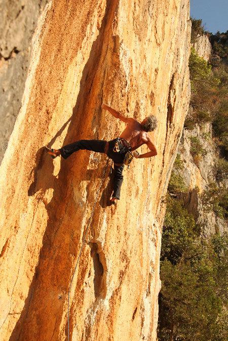 Manolo su Rock fire 7a, Cristina Zorzi