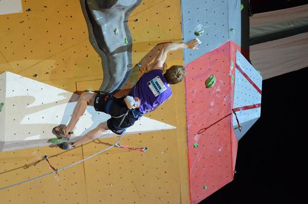 Jakob Schubert: Climbing World Cup 2011 in Chamonix, Lucio De Biase