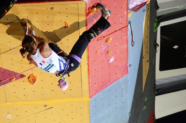 Caroline Ciavaldini: Climbing World Cup 2011 in Chamonix, Lucio De Biase