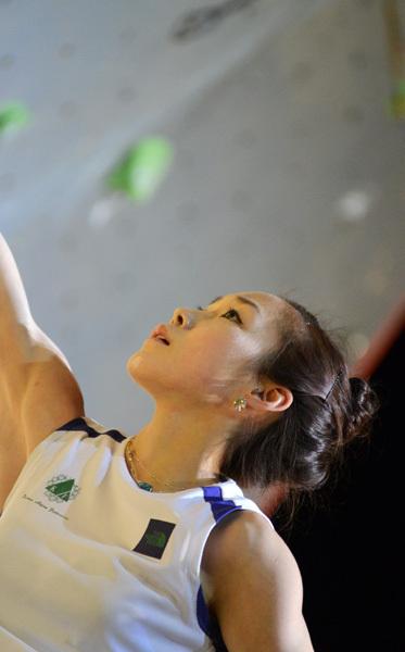 Jain Kim: Climbing World Cup 2011 in Chamonix, Lucio De Biase