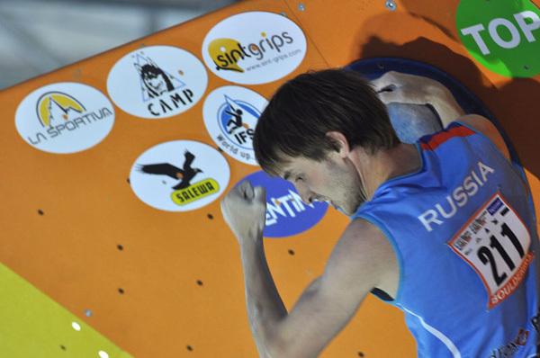 Dmitry Sharafutdinov, Campione del Mondo Boulder 2011, Giulio Malfer