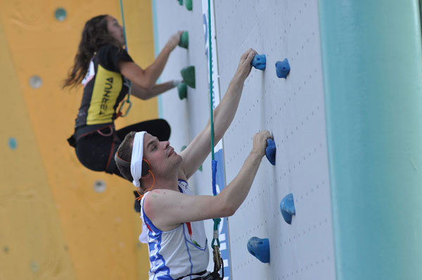 The Speed discipline of the 1st IFSC ParaClimbing World Championship in Arco, Giulio Malfer