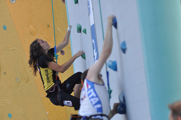 Paula De La Calle Pizarro, Speed World Champion of her ParaClimbing category, Giulio Malfer