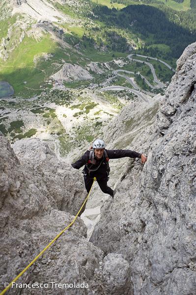 Blede alla riscossa (5+, 360m), Piccolo Lagazuoi, Dolomites, Francesco Tremolada
