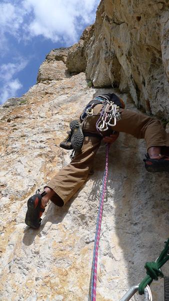 Via Palfrader (VII-, 250m) Col di Specie / Geierwand, Dolomiti di Braies, Andrea Di Donato