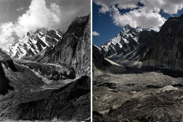 A historic photo taken by Vittorio Sella compared to the modern one taken by Fabiano Ventura, Fabiano Ventura