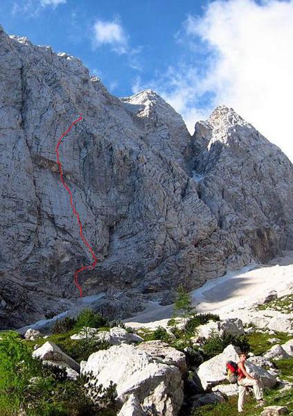 Smer Norckov, Site, Alpi Giulie, Slovenia, archivio Matic Obid