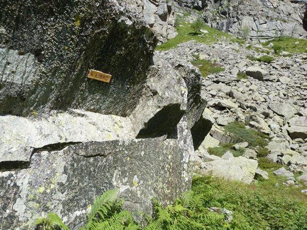 Il masso del Libro, arch. A. Giorda