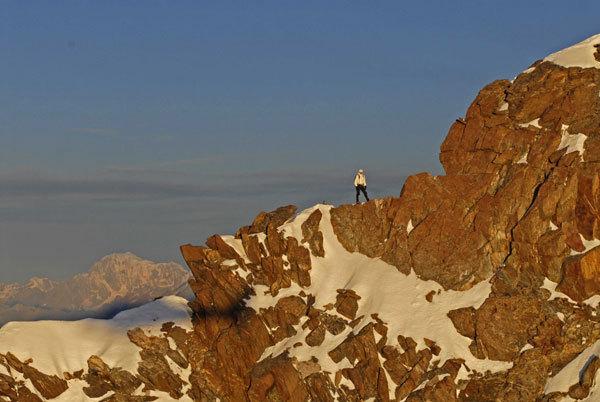 Prime luci sulla cresta Sella al Lyskamm, Marco Spataro