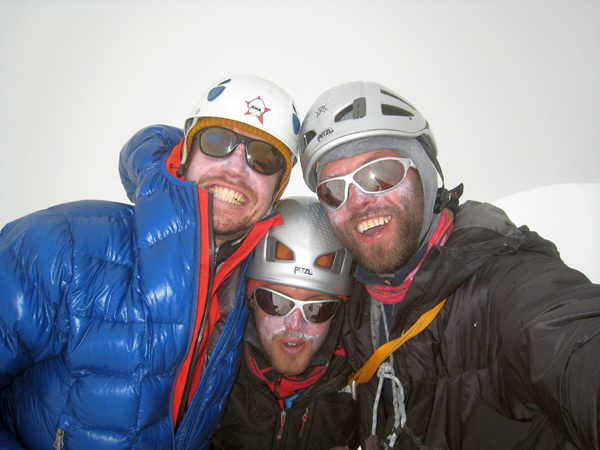 Enjoying the summit, from left to right: Peter Juvan (34), Igor Kremser (23) and Ales Holc (35), Ales Holc
