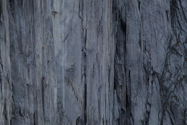 Dave MacLeod freeing Bongo Bar (400m, 8a) Blåmann, Norway.