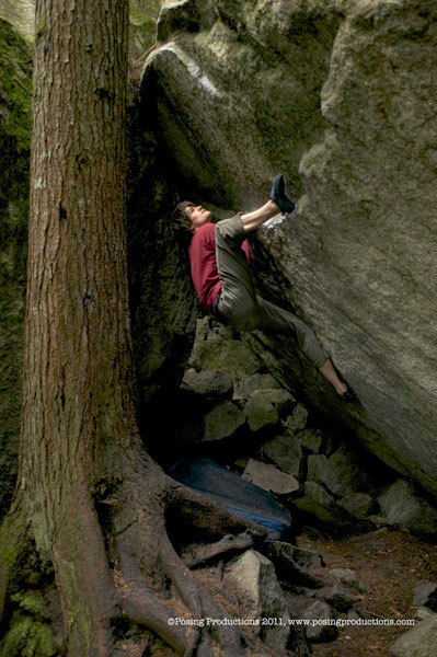 Alex Gorham sale Backseat, V10, The Grand Wall Boulders, Squamish, Canada., Jen Randall / Posing Productions