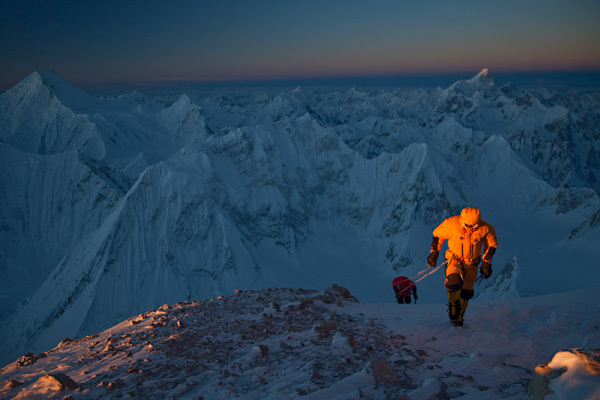 Gasherbrum II in winter by Simone Moro, Denis Urubko and Cory Richards. , Cory Richards