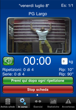 Climbing Training via the iPhone, developed by Allesandro Jolly Lamberti and Piero Amato, Planetmountain.com