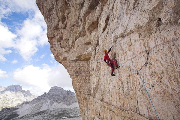 Luka Krajnc sale Bellavista 8c, Tre Cime di Lavaredo, Dolomiti, Urban Golob