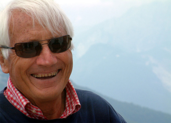 Walter Bonatti during the meeting at Monte Rite, August 2004, Vinicio Stefanello