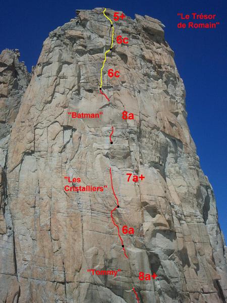 Le tresor de Romain 8a+, Grand Capucin, Monte Bianco, Nicolas Potard