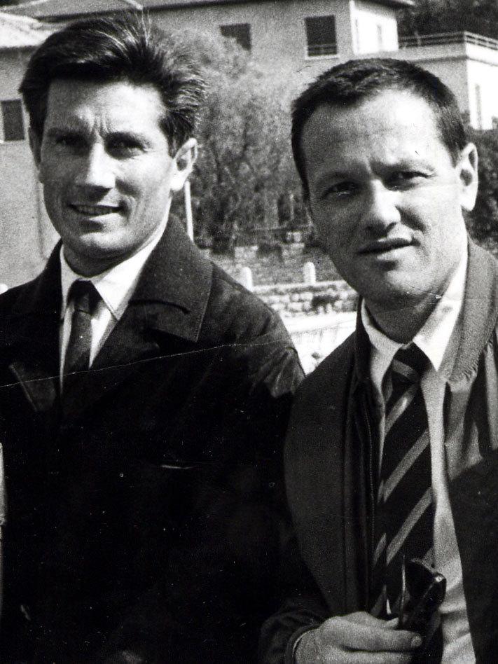 Walter Bonatti (a sx) con Pierre Mazeaud, archivio Trento Film Festival