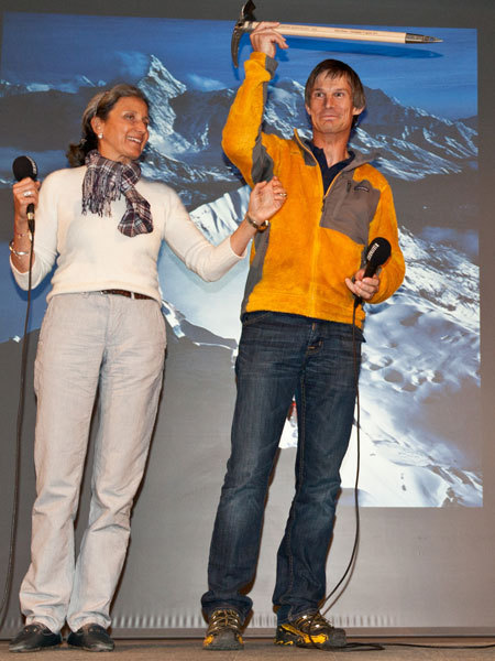 Betta Gobbi and Steve House at Sorie di Montagna - Courmayeur 2011, Lorenzo Belfrond