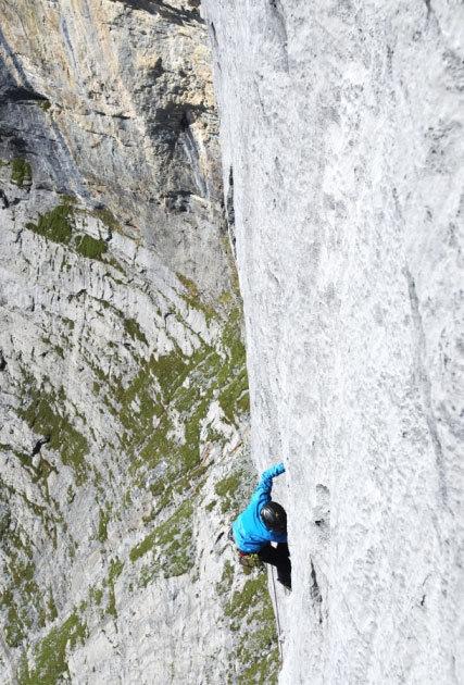Fabio Palma climbing Infinite Jest, Pietro Bagnara