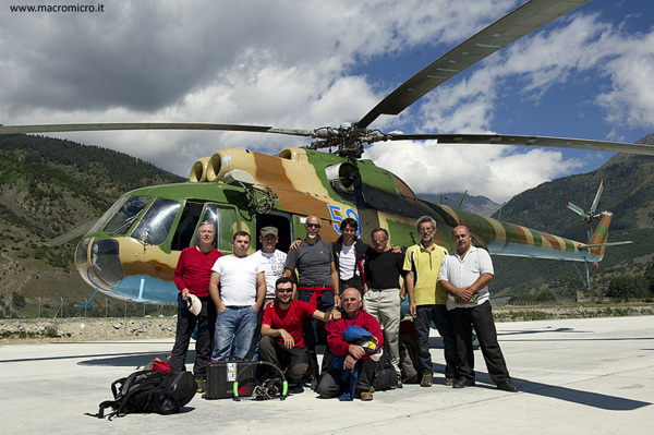 The expedition members of Caucaso 2011, Fabiano Ventura