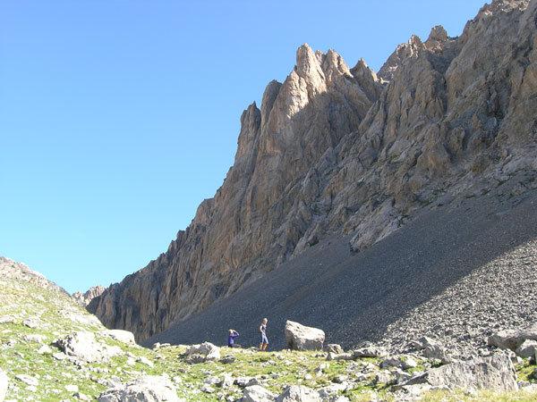 verso la parete delle Aiguiles du Vallonasso, Fabio Vivalda