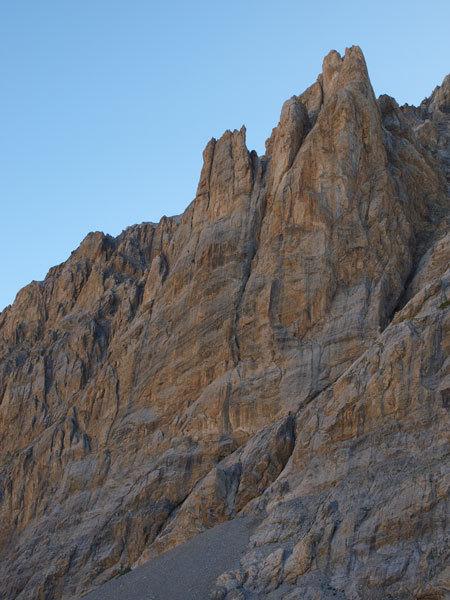 La parete delle Aiguilles du Vallonasso, Fabio Vivalda