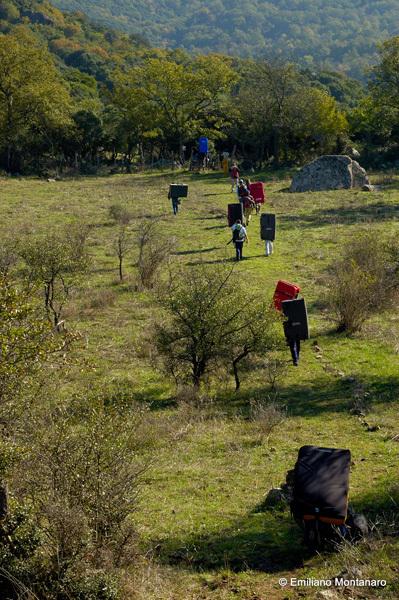 Bouldering at Pietra del Toro, Campomaggiore, Emiliano Montanaro