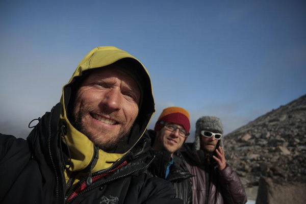 The dream team: Toni Lamprecht, Michi Wyser and Tom Holzhauser, archivio Swiss-Bavarian Climbing Expedition