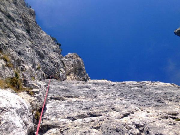 Prima solitaria della via Ultimo Zar alla Prima Pala di San Lucano (Dolomiti), Marco Anghileri