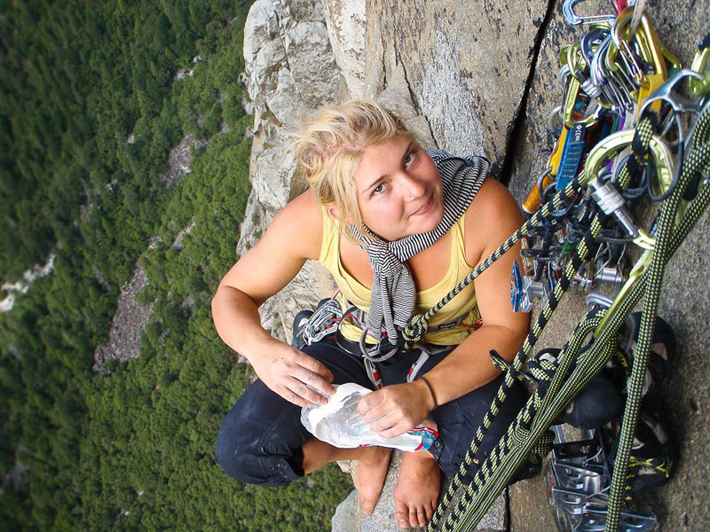 Hazel Findlay su Golden Gate, El Capitan, Yosemite., Hansjörg Auer