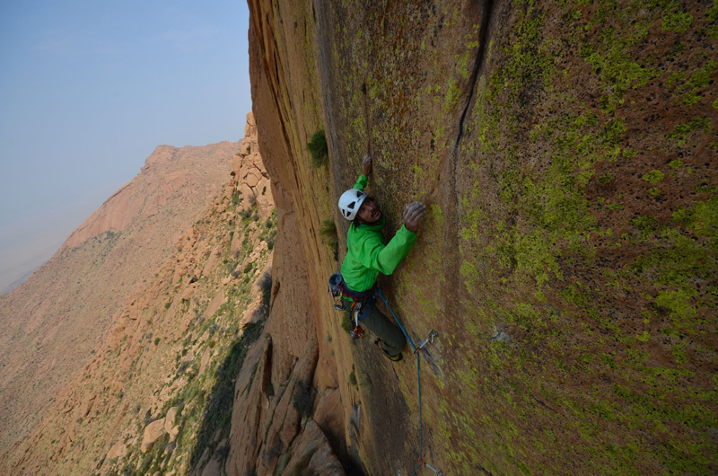 Hungarob Combination, new multi-pitch on the Brandberg, Namibia, Till Kramann